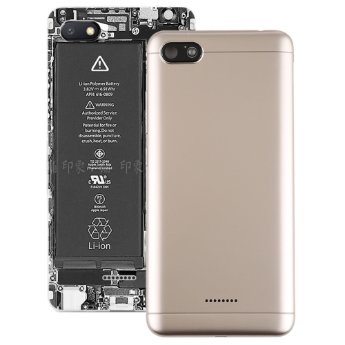 BATTERY COVER XIAOMI Redmi 6A (Gold) with Side Keys