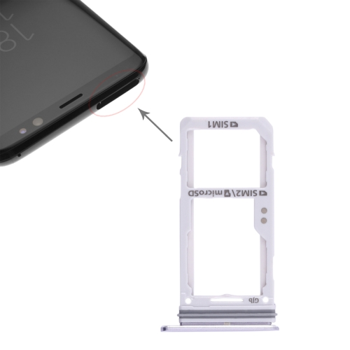2 SIM Card Tray / Micro SD Card Tray for Samsung S8 / S8+(Grey)